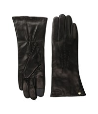 Cole Haan Long Leather Gloves With Points And Tech Black Extreme Cold Weather Gloves
