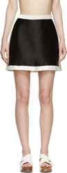 Osklen Praia Black And White Satin Skirt