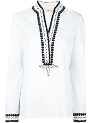 Tory Burch 'Daniels' Tunic White