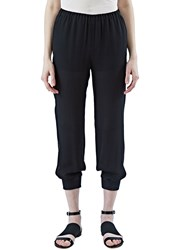 Agnona Relaxed Sheer Pants Black