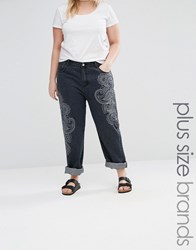 Alice And You Paisley Printed Jean Blue