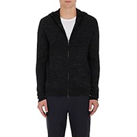 Vince. Men's Cotton Blend Zip Front Hoodie Blue