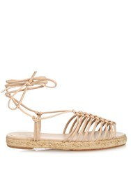 Chloe Leather Espadrille Sandals Nude