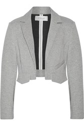 10 Crosby By Derek Lam Cropped Cotton Blend Blazer Gray