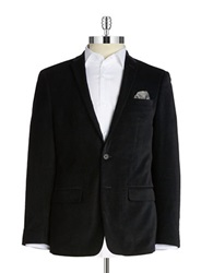 William Rast Velvet Jacket Black