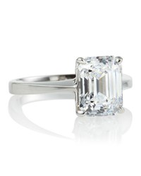 Fantasia Asscher Solitaire Ring