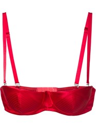 Fleur Du Mal Satin Convertible Underwire Bra Red