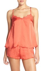 Women's Band Of Gypsies Lace Inset Satin Camisole