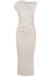 Kain Label Penny Striped Ribbed Stretch Jersey Maxi Dress Gray