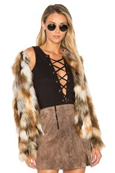 Tularosa X Revolve Averly Faux Fur Coat Brown