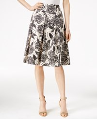 Charter Club Print Pleated Skirt Only At Macy's Classic Ecru Combo