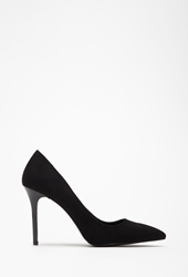 Forever 21 Faux Suede Pointed Pumps Black