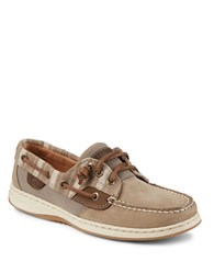 Sperry Ivyfish Leather Boat Shoes Taupe