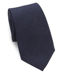 Ralph Lauren Textured Silk Tie Navy