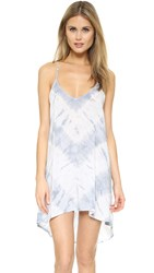 Blue Life Exile Dress White Feather