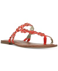 Carlos By Carlos Santana Shelby Flat Sandals Women's Shoes Spicy Coral