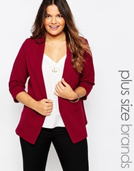 New Look Inspire Textured Blazer Plum