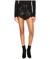 Bb Dakota Cristo Sequin Knit Shorts Black Women's Shorts