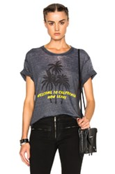 Adaptation Palm Vintage Tee In Gray