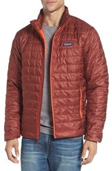 Patagonia Men's 'Nano Puff' Water Resistant Jacket Cinder Red