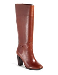 Lord And Taylor Madise Leather Boots Cognac