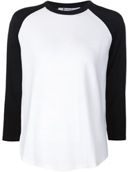 T By Alexander Wang Fine Knit Baseball Jumper Black