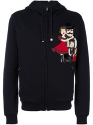 Dolce And Gabbana Family Patch Hoodie Black