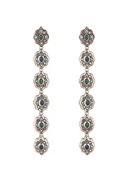 Gucci Crystal And Palladium Plated Earrings