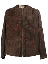 By Walid Embroidered Bomber Jacket Black