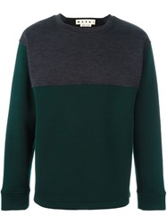 Marni Two Tone Sweatshirt Grey