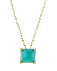 Ippolita 18K Rock Candy Mini Single Square Sliding Turquoise Pendant Necklace Women's