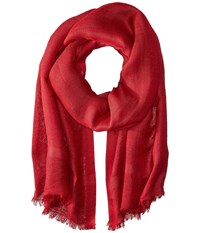 Love Quotes Linen Eyelash Scarf Beaujolais Scarves Red