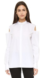 Thakoon Open Shoulder Shirt White