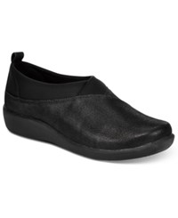 Clarks Collection Women's Cloud Steppers Sillian Greer Sneakers Women's Shoes Black Nubuck