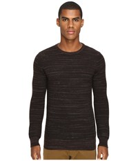 Billy Reid Blurred Stripe Crew Brown Men's Clothing