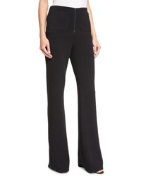 Haute Hippie High Rise Flare Pants Black