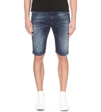 Diesel Kroshort Bn Ne 0674Y Regular Fit Tapered Shorts Denim