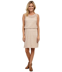Stetson P R Crochet Lace Tank Dress Brown Women's Dress