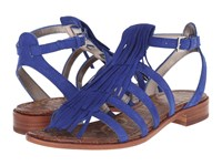 Sam Edelman Estelle Sailor Blue Kid Suede Leather Women's Sandals