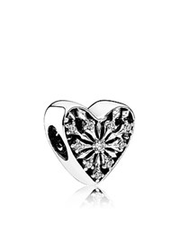 Pandora Design Charm Sterling Silver And Cubic Zirconia Heart Of Winter Moments Collection