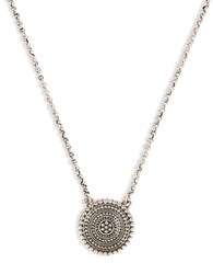 Lucky Brand Silvertone Tribal Pendant Necklace