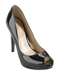Cole Haan Chelsea Patent Leather Open Toe Pumps Black