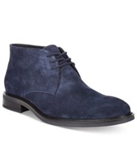 Alfani Men's Fulton Plain Toe Chukka Boots Only At Macy's Men's Shoes Navy