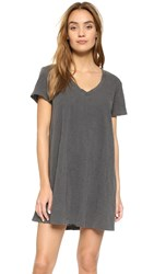 Wilt V Neck Trapeze T Dress Distressed Black