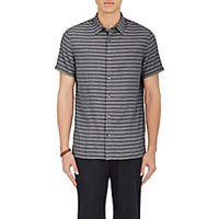 Vince. Men's Striped Short Sleeve Shirt Grey