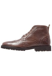 Lyle And Scott Whitrope Laceup Boots Dark Brown