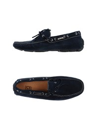Ice Iceberg Footwear Moccasins Men Dark Blue