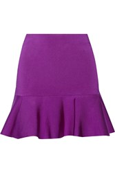 Issa Arabella Stretch Knit Mini Skirt Purple