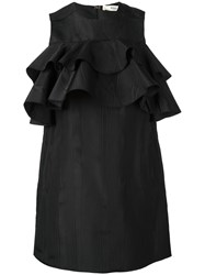Bally Ruffled Mini Dress Black