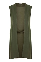 Wal G Panelled Detail Waistcoat By Khaki